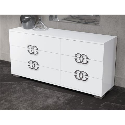 Dafne 8 draw dresser chest
