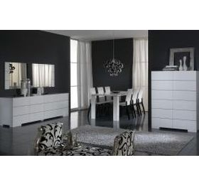 Prestige Elba Lacc high gloss dining set inc 4 chairs