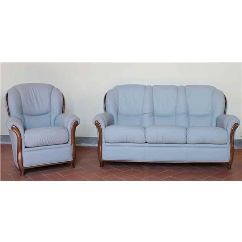 Garda Italian Leather 3 + 1 + 1 Sofa Suite