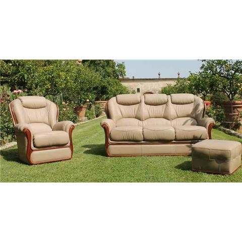 Gemma Italian Leather 3 + 1 + 1 Sofa Suite