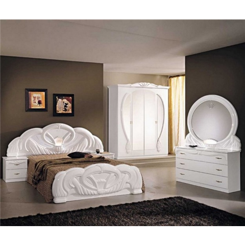 Giada italian bedroom set in white
