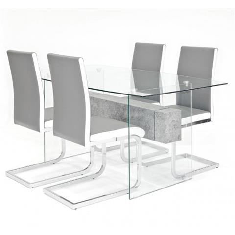 glasstone table with 4 brescia chairs