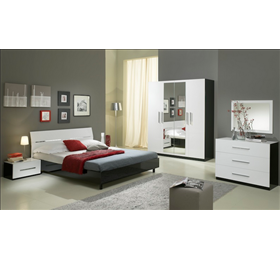 Gloria high gloss modern italian bedroom set