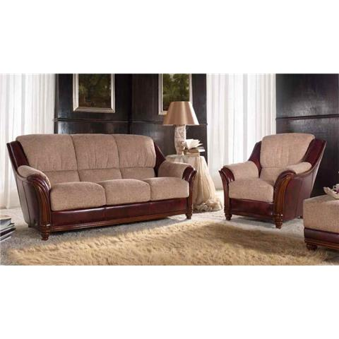 Golf Italian Leather 3 + 1 + 1 Sofa Suite