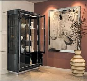 LA Star black 2 door wall unit