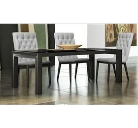 LA Star black high gloss dining table and 6 chairs