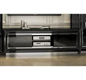 LA Star black high gloss tv unit