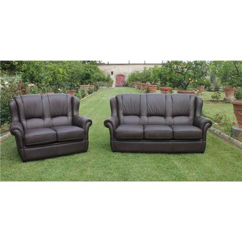 Leonardo Leather 3 + 1 + 1 Sofa Suite