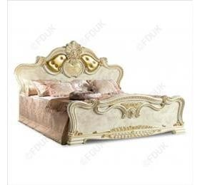 Camel leonardo uphostered bed queen size