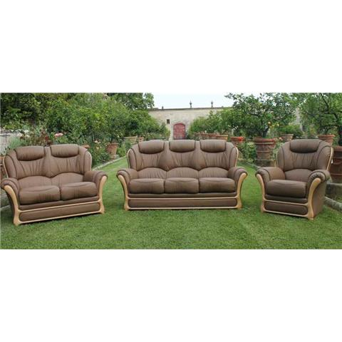 Lucca Full Italian 3 + 1 + 1 Sofa Suite