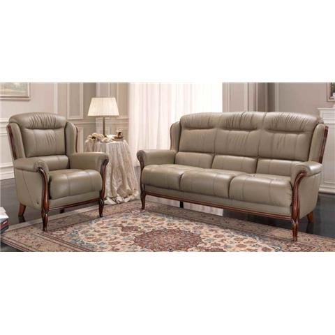 Melody Italian Leather 3 + 1 + 1 Sofa Suite