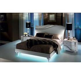 miro bed with light and two bedside cabinets by arredo classic