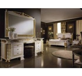 Mythos Black & Gold Bedroom Collection