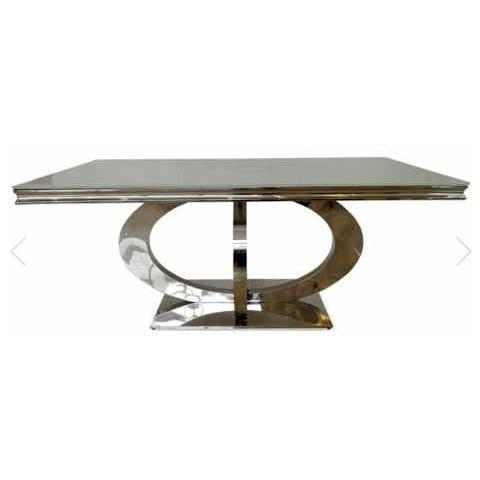 Orion 220cm Glass Dining Table