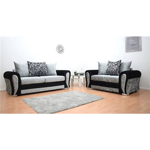 paris 3 seater and 2 seater crushed sofa set
