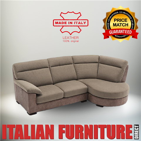 Backgammo Italian Leather corner sofa