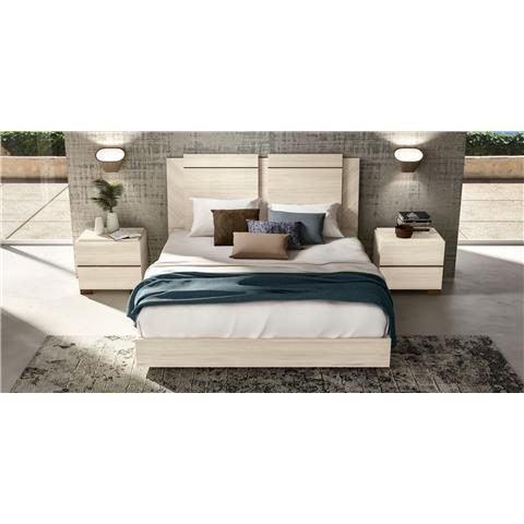 Perla white larch bedframe