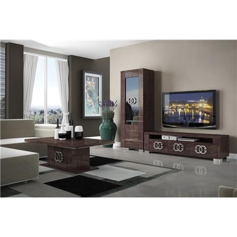 STATUS PRESTIGE UMBER BIRCH COFFEE TABLE WITH STORAGE