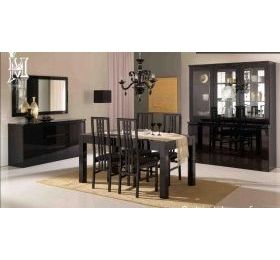 Roma high gloss dining table+4 chairs