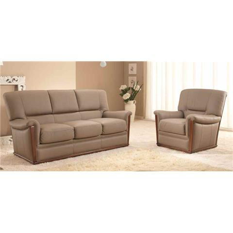 Romeo Italian Leather 3 + 1 + 1 Sofa Suite