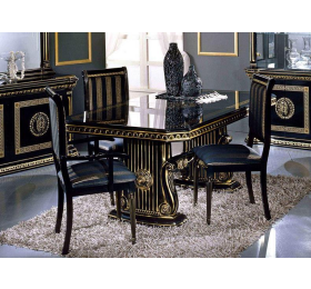 Rossella H2O Black & Gold Dining Table