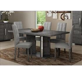 Sarah Grey Birch Dining Table & 6 Chairs