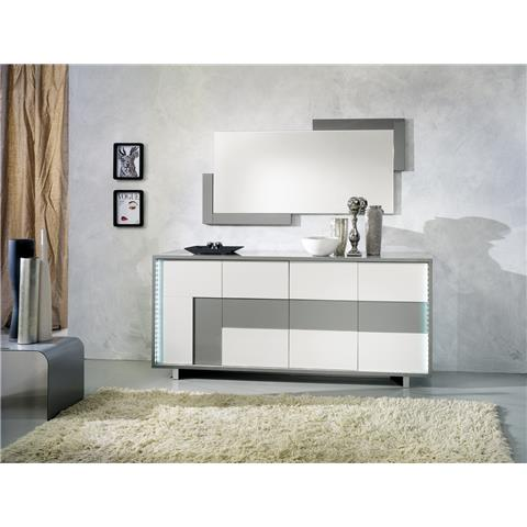 scuba highgloss italian white and grey sideboard