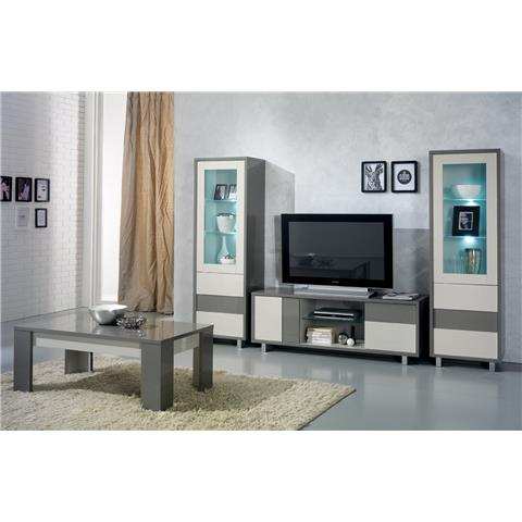 scuba highgloss italian white and grey tv unit