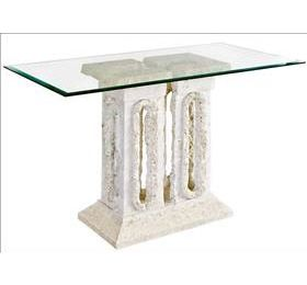 tower stone and glass console table
