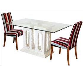 tower mactan stone and glass dining table