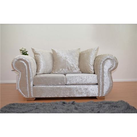windsor crushed velvet 2 seater  sofa in cream