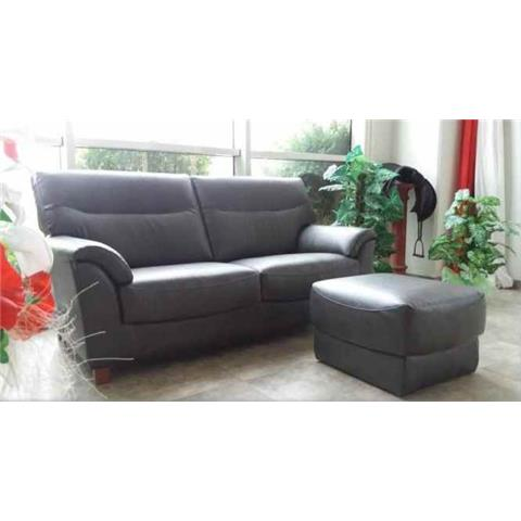 Zara Full Italian Leather 3 + 1 + 1 Sofa Suite