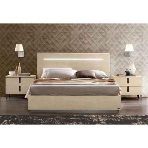 Ambra High Gloss Ivory Bed