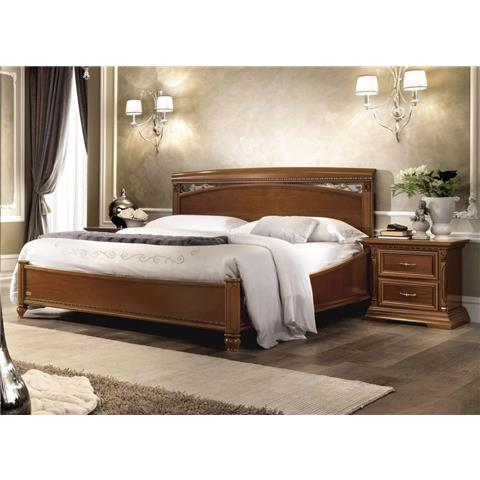 Camel Treviso Night Cherry Wood Italian Storage Ring Bed